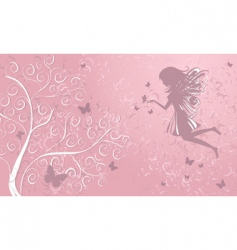 Fairy with butterflies vector