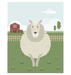 Sheep in a meadow vector