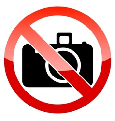 No photography sign vector