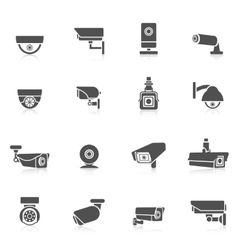Security camera icons vector