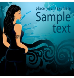 Beauty girl background vector