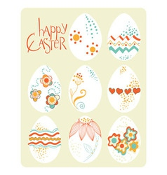Easter template design greeting card vector