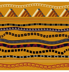 Seamless with ethnic patterns in tribal style vector