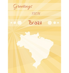 Greetings from brazil vector