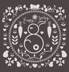 Spring and easter for design vector
