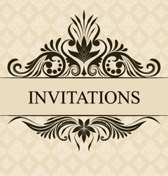 Invitations border vector