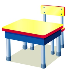 School table vector