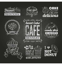 Chalk calligraphic drawing vector