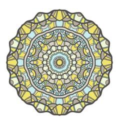 Circular decorative ornament mandala design arabic vector