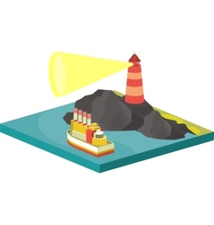 Isometric sea vector