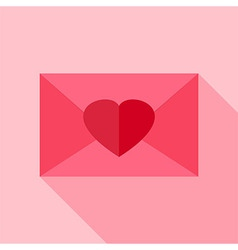 Love envelope with heart vector