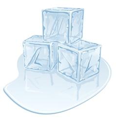 Ice cube pile vector