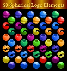 Spherical logo elements vector