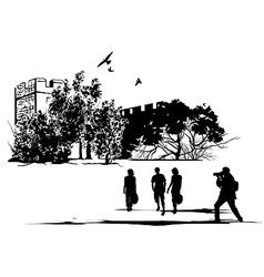 Tourist castle vector