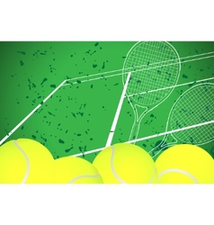 Tennis illustration vector