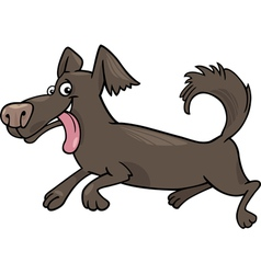 Running little dog cartoon vector