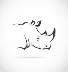 Image of rhino head vector