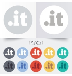 Domain it sign icon top-level internet domain vector