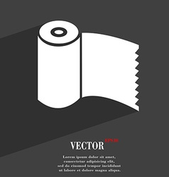 Toilet paper wc roll icon symbol flat modern web vector