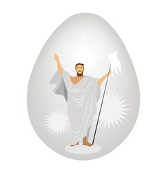 Jesus christ painted on easter vector