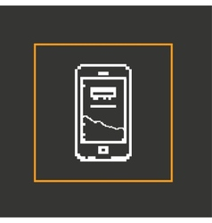 Simple stylish pixel icon phone design vector