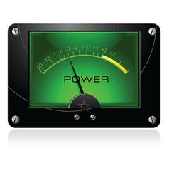 Green signal meter vector