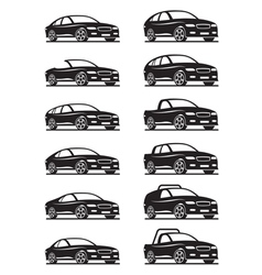 Cars and off road vehicles vector