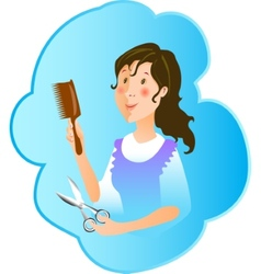 Hairdresser profession vector