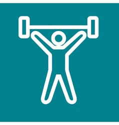 Weight lifting person vector