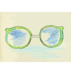 Hand drawn glasses2 vector