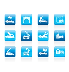 Car and automobile service icon vector