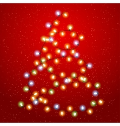 Christmas tree lights background vector