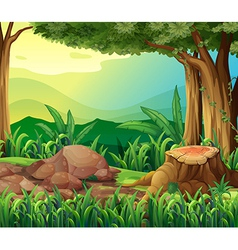 The tree trunk vector