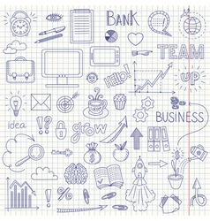 Business doodle background vector