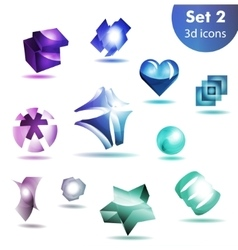 Icon set for wesite info graphic vector