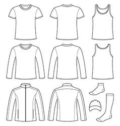 Singlet t-shirt long-sleeved t-shirt jacket socks vector