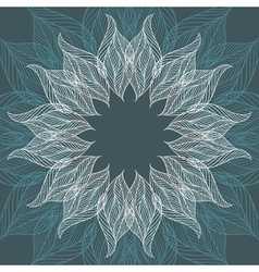 Abstract background with flower vector
