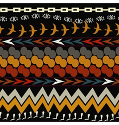 Seamless ethnic pattern tribal style vector