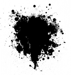Ink splat vector
