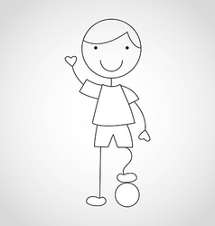 Kid draw vector
