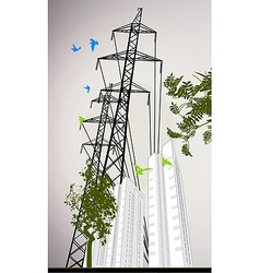 High rise building vector