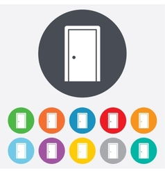 Door sign icon enter or exit symbol vector