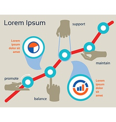 Business concept of success and financial growth vector