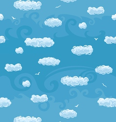 Blue sky seamless pattern vector