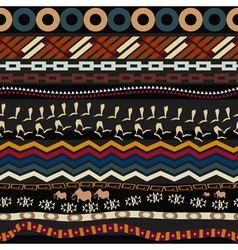 Tribal seamless pattern with figures of mammoth vector