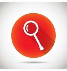 Magnifier icon vector