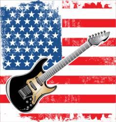 Usa guitar american vector