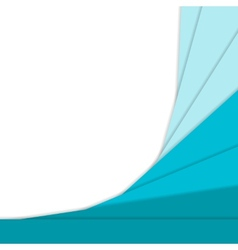 Material design curve background vector