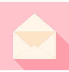 Open envelope over light pink vector