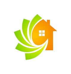 House construction technology logo vector